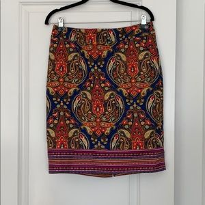 Multicolored pencil skirt